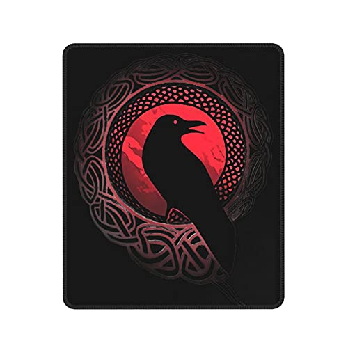 Odin with Huginn and Muninn Raven Gaming Mouse Pad Computer Desk Stationery Accessories Mouse Pads for Gifts 7 x 8.6 in