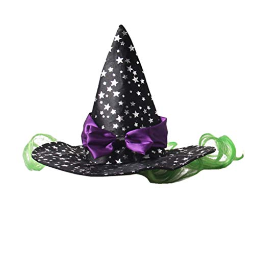 Ollypet Cat Dogs Halloween Costume Little Witch Wizard Pet Outfit for Small Dogs Cute Fleece Hat Party Event Apparel Funny Clothes Accessory