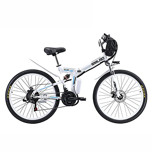 ZOSUO Hombres Bicicleta Plegable Eléctrica De Montaña Al Aire Libre 500 W Motor De 26 Llanta De Radios Velocidades 48V13ah Batería De Litio Extraíble Transmisión Shimano De 21