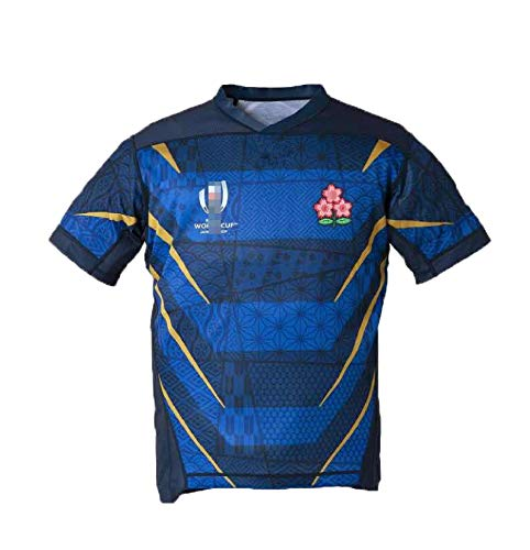 Copa Mundial De Rugby Camiseta del Equipo De Japón 2019 2018 Camiseta De Manga Corta para Hombres Polo Blue-M