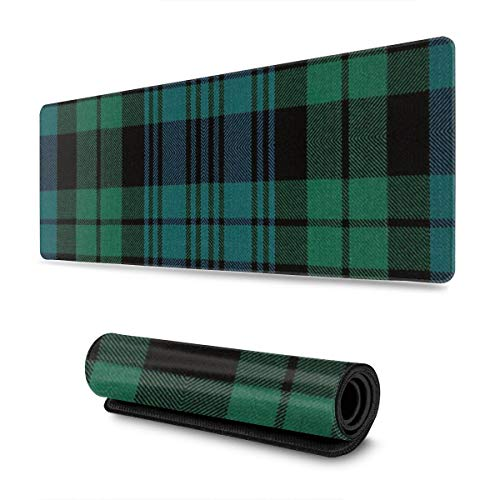 Black Tartan 30 X 80 CM Gaming Mouse Mat Pad Smooth Surface for Computer and Desk