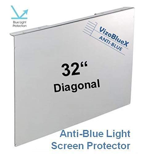 32 inch VizoBlueX Anti-Blue Light Monitor - TV Screen Protector and Damage Protection Panel (28.5 x 17.1 inch) Filter Blocking UV & Blue Light from 380 to 495 nm. Fits OLED & QLED HDTV Displays