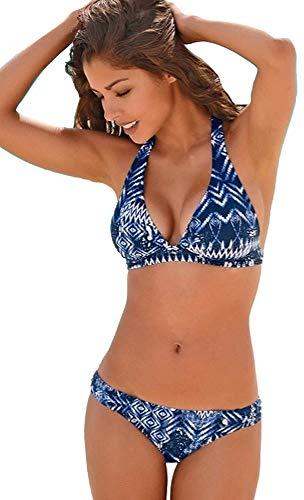 S.Oliver Damen Triangel Bikini (Blau, 36C/D)