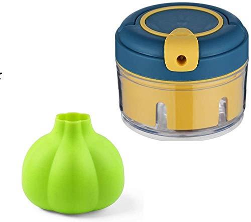 HOUHOU Mini Machine Manuelle à l'ail de Cuisine Multifonctions ail Machine Artifact ail Poivre Ail Machine, Silicone Souple L'ail Peeler Hachoir à l'ail (Color : A)