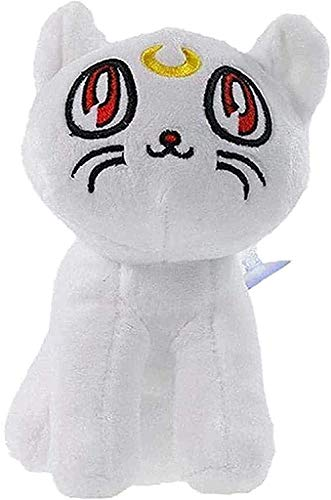 NC56 17 cm Sailor Moon Cat Plush Toy Cartoon Animal Pencil Case Soft Stuffed Anime Doll Puppet Pillow for Kids Best Gift
