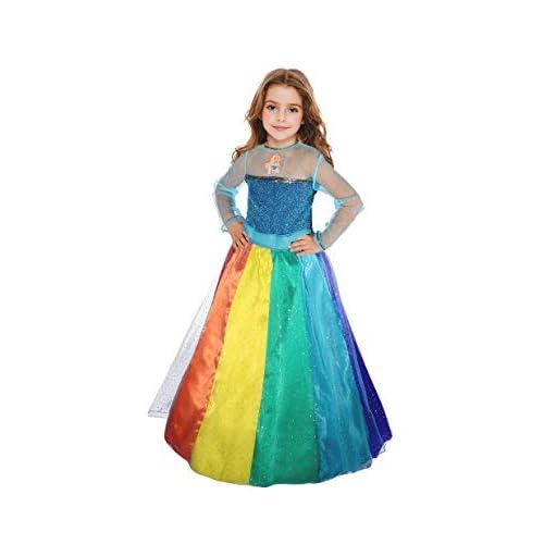Ciao-Barbie Principessa Arcobaleno costume bambina, 5-7 anni, Multicolore, 11663.5-7