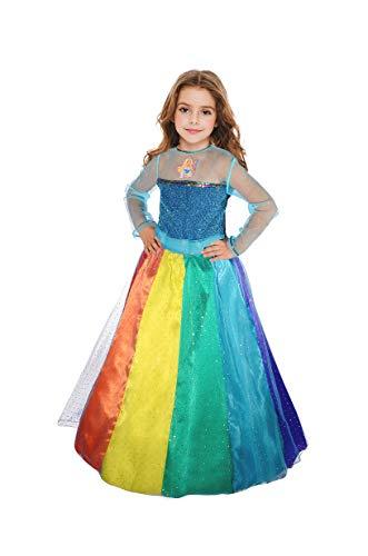 Ciao-Barbie Principessa Arcobaleno costume bambina, 3-4 anni, Multicolore, 11663.3-4