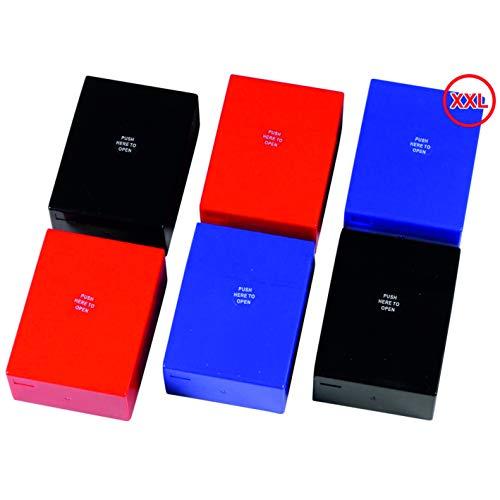 kogu Maxi Box Push-Zigarettenboxen für 30 Zigaretten ohne Steg, 6er Set