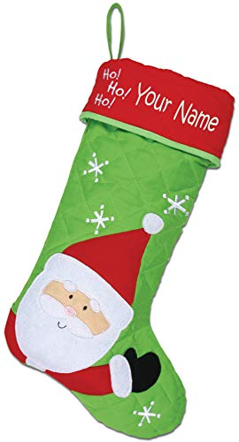 Personalized Stephen Joseph Santa calza di Natale con nome ricamato