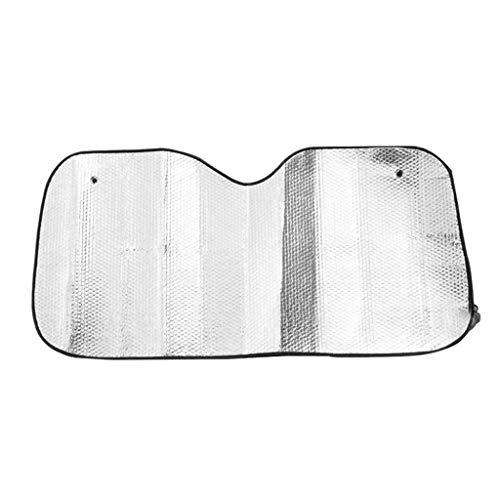 Zonnebrandcrème Car Zonnescherm, Getinte Vehicle Gemakkelijk te installeren Dubbelzijdig Aluminium Foil zonneklep Isolatie Zon Block, 140 * 70cm
