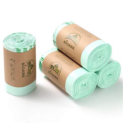 N/A Müllbeutel, 10 l, 100 Beutel, kompostierbar, biologisch abbaubar, 6 l, 10 l, 30 l, besonders dick, EN13432 zertifiziert (10 l)