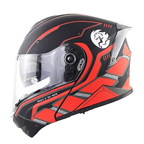 Casco de carreras de motocicletas Casco de cara abierta de doble lente Casco de seguridad para montar aprobado por ECE Cascos para hombres y mujeres de cuatro estaciones C,XXL