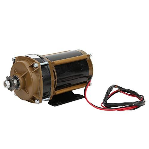 Motor eléctrico Cepillado Motor 24V 500W Accesorio de conversión de Motor con Engranaje de Metal Duradero para Electro-Triciclo