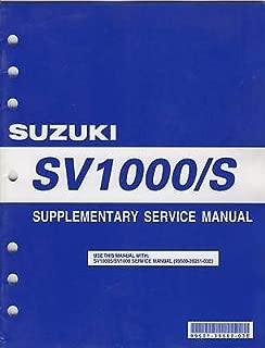 2005 SUZUKI MOTORCYCLE SV1000/S SERVICE SUPPLEMENT MANUAL