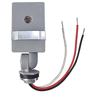 Woods Outdoor Hardwire Conduit Light Control with Photocell Swivel Base