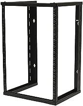 NavePoint 15U Wall Mount Open Frame 19 Inch Server Equipment Rack Threaded 16 inch Depth Black