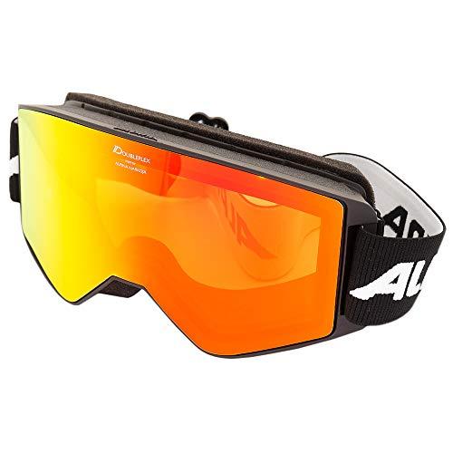 ALPINA Herren Skibrille Narkoja schwarz/orange (704) 0