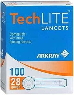 ARKRAY TECHLITE LANCETS Lancet, 28G, 100/bx