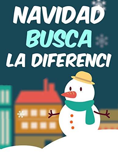Navidad Busca la Diferenci: Busca y encuentra las diferencias - Buscar y encontrar Navidad Libro de actividades puzzles desafiantes y divertidos