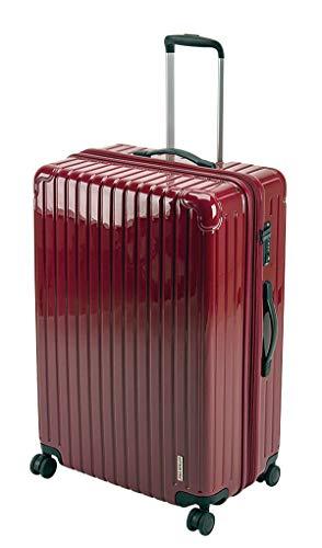 キャプテンスタッグ(CAPTAIN STAG) スーツケース キャリーケース キャリーバッグ 超軽量 TSAロック ダブルホイール 360度回転 静音 ダブルファスナータイプ Lサイズ ベリー パルティール UV-73