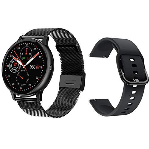 Gulu 2021 Nuevos Hombres Mujeres Smart Watch 1.3'HD Bluetooth 5.0 ECG + PPG Monitor De Ritmo Cardíaco Smarth Tracker para iOS Android Smartwatch,G
