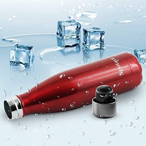 Spotact Copas Aisladas Termos Botellas De Bebidas A Prueba De Fugas De Acero Inoxidable De Doble Capa Inodoras Sin BPA No Tóxicas Reutilizables (Rojo(Luz Brillante), 750ML)