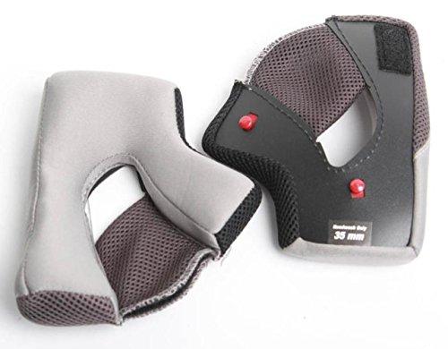 BELL Qualifier Cheek Pads Street Motorcycle Helmet Accessories - Grey / 30MM