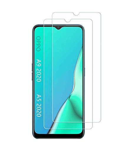 UNO' Protector pantalla cristal templado 2 Unidades compatible con OPPO A9 2020...
