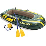 Inflatable Boat Set for Adults - Inflatable Fishing Boat,2 Person Inflatable Kayak with Oars, Pump, Water Rafts for Lake, Pool