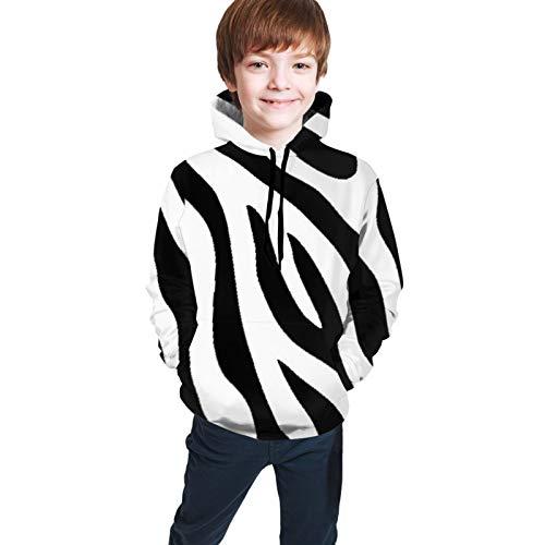 MZZhuBao Boys&Girls Sweatshirt, Teen Hooded Sweate Zebra Stripe
