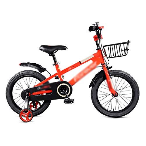 GEXIN 2-9 Jahre alt 12 14 16 Zoll Kinderfahrrad mit Stützrädern, Kleinkinderfahrrad, Rahmen aus kohlenstoffhaltigem Stahl