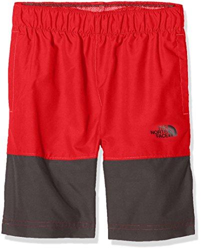 The North Face Boy's Class V Water Shorts - TNF Red Logo & Phantom Print - S