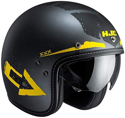HJC Motorradhelm Mofahelm FG 70s Tales MC3F, schwarz/gelb, Größe S