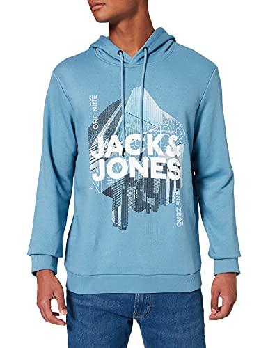 JACK & JONES JCOYORK Sweat Hood Sweatshirt Capuche, Blue Heaven, XXL Homme