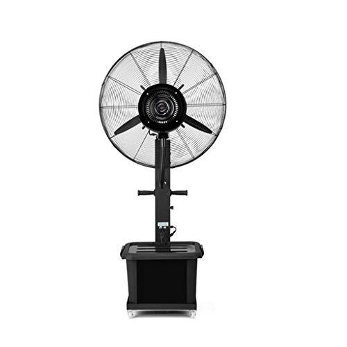 Estilo industrial Ventiladores de pedestal Ventilador de pedestal Enfriamiento por atomización Humidificador de pulverización Torre silenciosa Atomización Comercial Ventilador oscilante vertical Indus