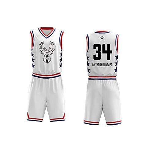 Giannis Antetokounmpo 34 Basketbal trui, heren Retro Athletics Milwaukee Bucks Jersey