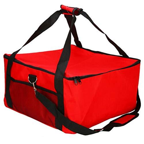 Foliner Pizza-Kuchen Lieferung Beutel-bewegliche Kuchen Kühltasche Picknick-Package Thermischer Tasche Thermischer Rucksack Red Isolier-Lebensmittel-Speicher-Halter 16 Zoll