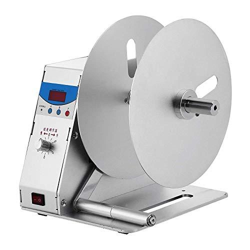 VEVOR Automatische Etikettenaufwickler 115mm Label Rewinder 220V 50Hz Barcode Printer Sticker Machine 50r/min Geschwindigkeit Einstellbar