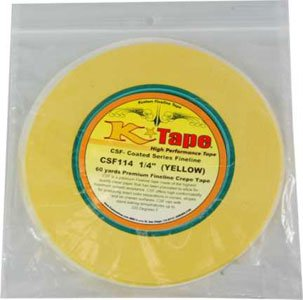 "Price comparison product image Custom Shop CSF114 1 / 4"" C-Tape Fineline Coated Yellow 1 / 4"" x 60 Yard R"