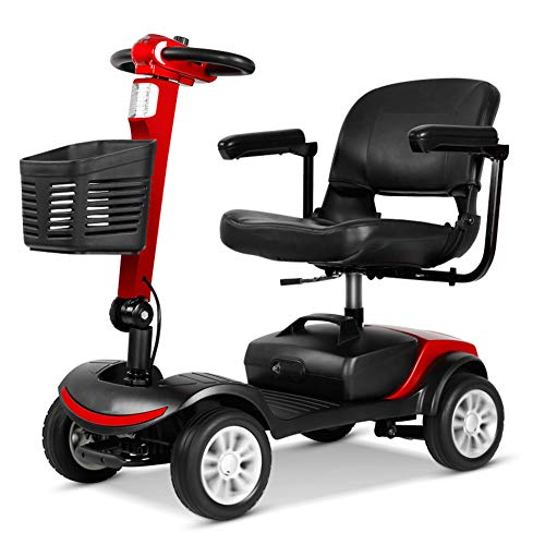 E Scooter Senioren Falbar,e Rollstuhl Faltbar Leicht Elektrofahrzeug Quad,elektroroller Für Behinderte 150kg,elektroscooter Mit Strassenzulassung Elektromobile Für Senioren 10 Km/h Elektromobil