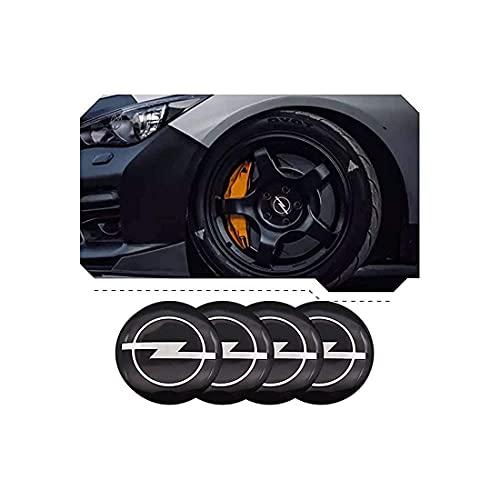 4 Tapas Centrales De Rueda, Tapacubos, CalcomaníA Con Emblema De Tapa Central De Rueda De AleacióN, Para Opel Astra H G J Corsa Insignia Antara