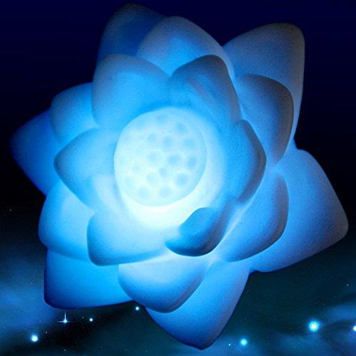 ShenYo LED Lotus Licht Bloem Lamp,7 Veranderende Kleuren Drijvende Tuin Zwembad Nachtlampje Baby Volwassenen Slaapkamer