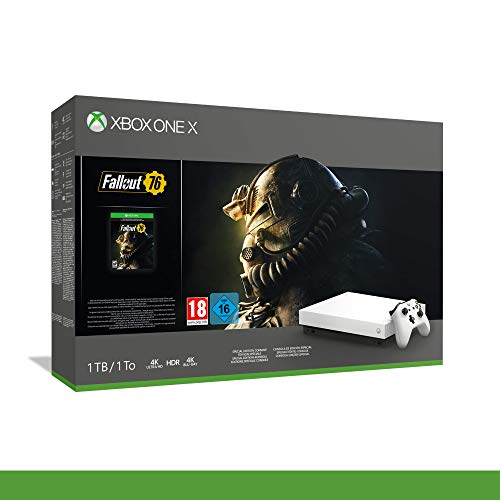 Xbox One X 1TB + Fallout 76 - Robotic White Edition