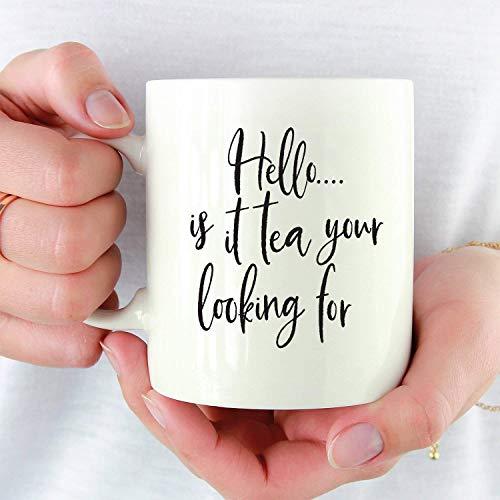 Hello is It Tea Youre Looking for Mug Funny Tea Cup Funny Tea Mug 80S Pop Culture Lionel Richie Mug