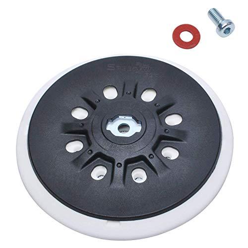 150mm Disco de Lijado de Gancho y Bucle Compatible con Festool ETS 150, ETS EC 150, LEX 150, WTS 150/7 Lijadoras Excéntricas 498987 con 8 Orificios Rosca M8 por Poweka (Suave)