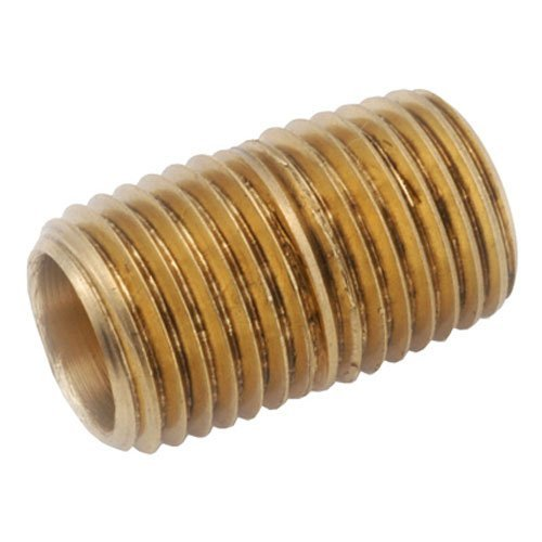 Anderson Metals 38300 Lead Free Red Brass Pipe Fitting, Nipple, 1 x 1 NPT Male, 3-1/2 Length by Anderson Metals
