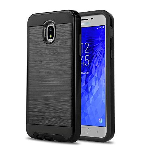 Phone Case for [Samsung Galaxy J7 Crown (S767VL)], [Protech Series][Black] Shockproof Cover [Impact Resistant][Defender] for Galaxy J7 Crown (Tracfone, Simple Mobile, Straight Talk, Total Wireless)