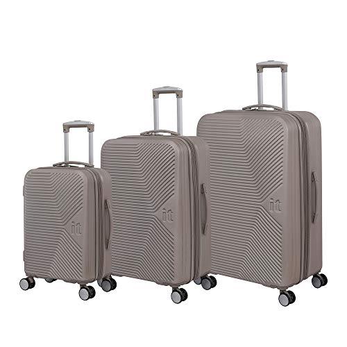 it luggage Aligned 3 Piece Hardside Expandable Set, Cobblestone with Cobblestone Trim