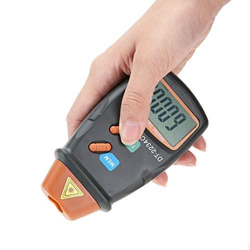 Tacómetro, tacómetro digital, alta resolución de 0,1 rpm o 1 rpm, con rango automático, indicación de batería baja, para visualización de fotos con cinta reflectante