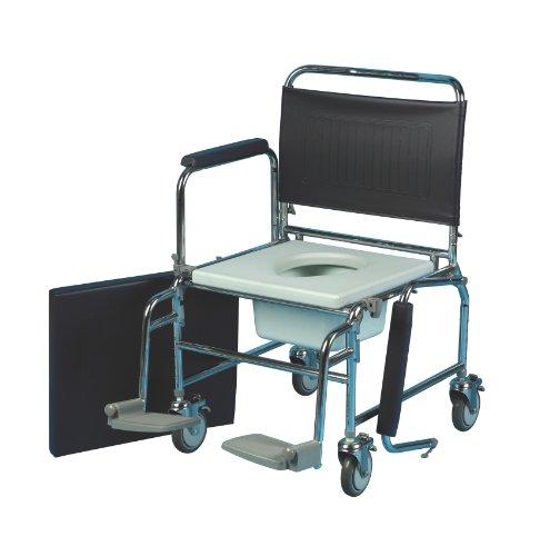 Patterson Medical Mobiler Toilettenstuhl, höhenverstellbarer Sitz, 50,8cm